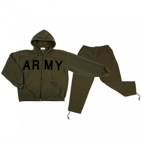 tepláková souprava Army zelená