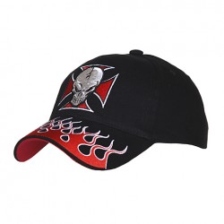 Baseballová čepice Cross with skull