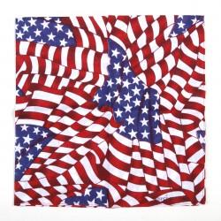 Šátek s motivem americká vlajka