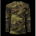Bavlněné maskáčové triko MILITARY, dlouhý rukáv