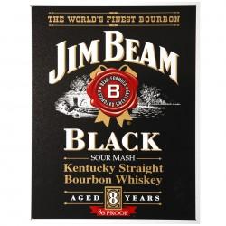 Plechová cedule s motivem Jim Beam černá