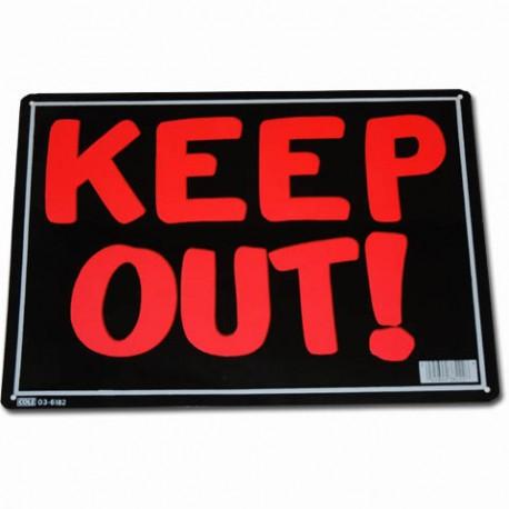 Pechová cedule Keep out