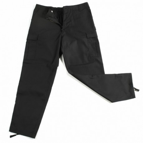 BDU PANTS WITH REINFORCED SEAT BLACK