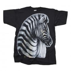 Triko s motivem Zebra, černé