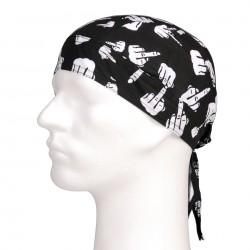 Šátek na hlavu - Bandana cap finger
