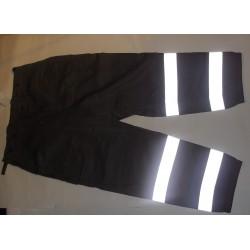 Kalhoty pracovní šedé s reflexním pruhem